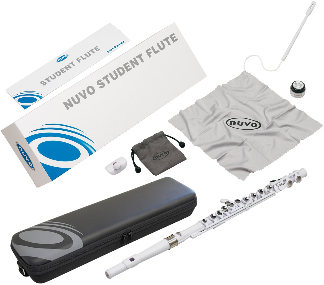 national NUVO Nouveau plastic flute STUDENT FLUTE white From JPN by Nuvo (Image #3)