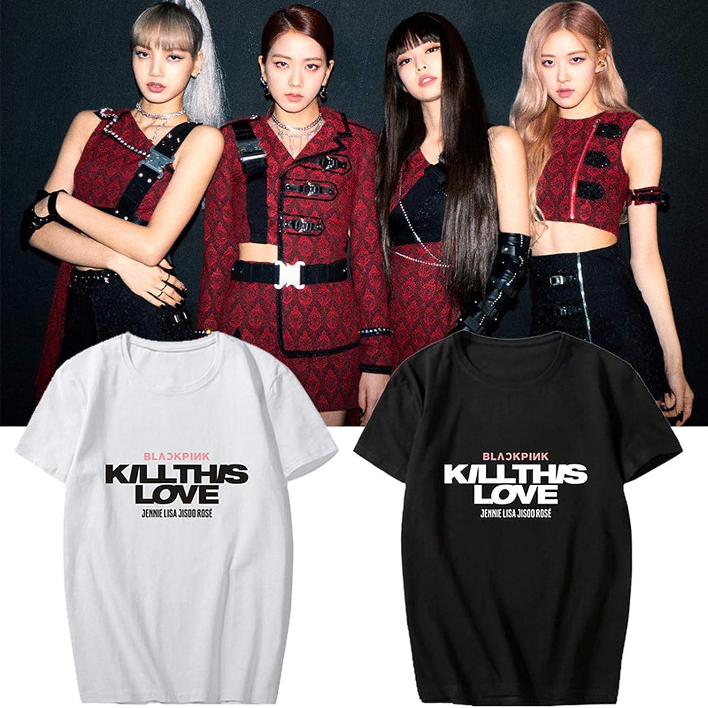 ACEFAST INC KPOP - Camiseta de Manga Corta, diseño con Texto en inglés Kill This Love Lisa Jennie Jisoo Rose: Amazon.es: Deportes y aire libre
