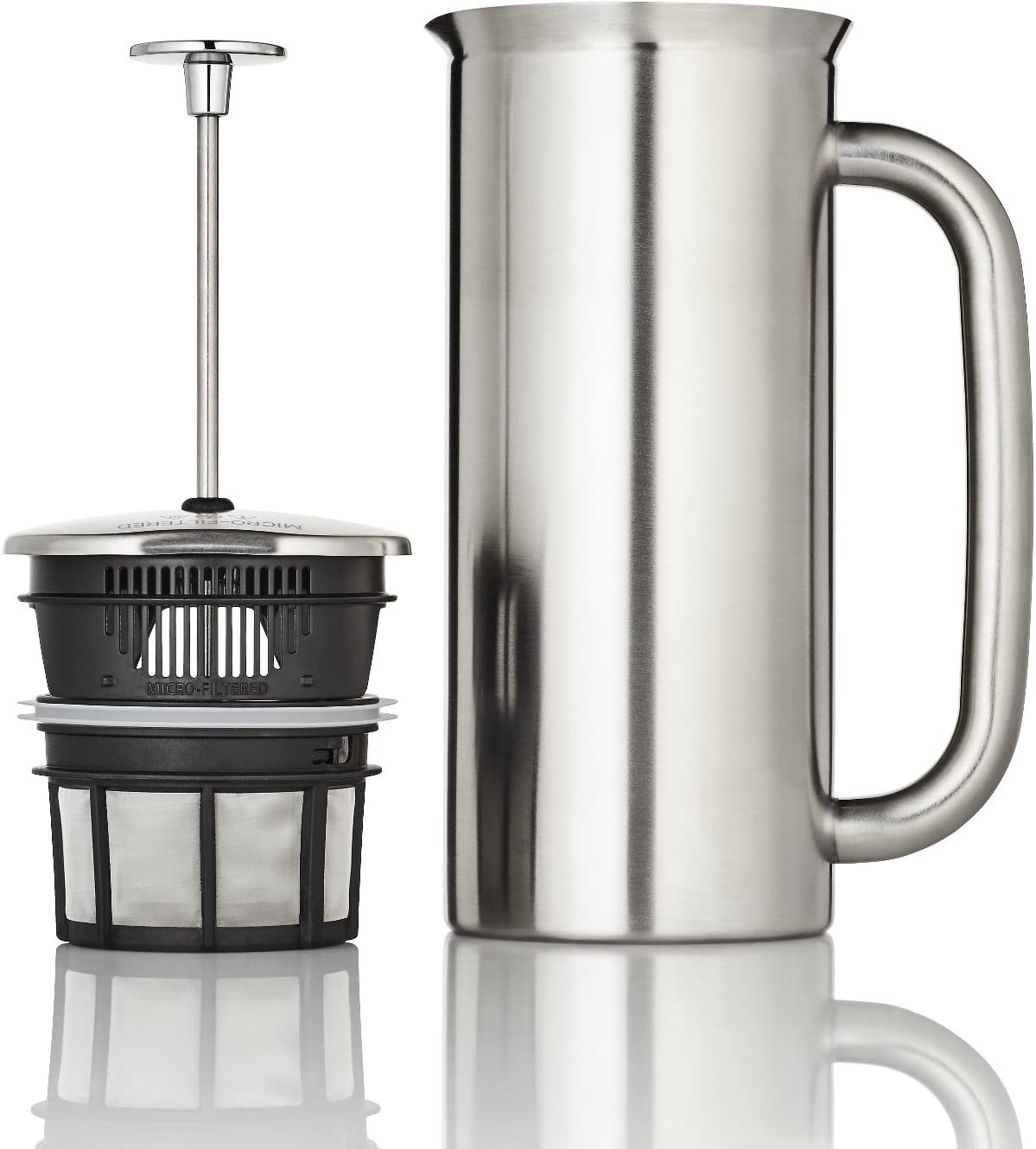 Vacuum Insulated Polished Stainless Steel Espro 1018C2 Coffee Press P7-18 oz