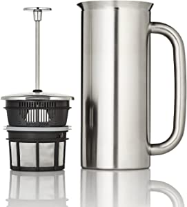 ESPRO P7 French press, 18 Ounce, Brushed Stainless Steel