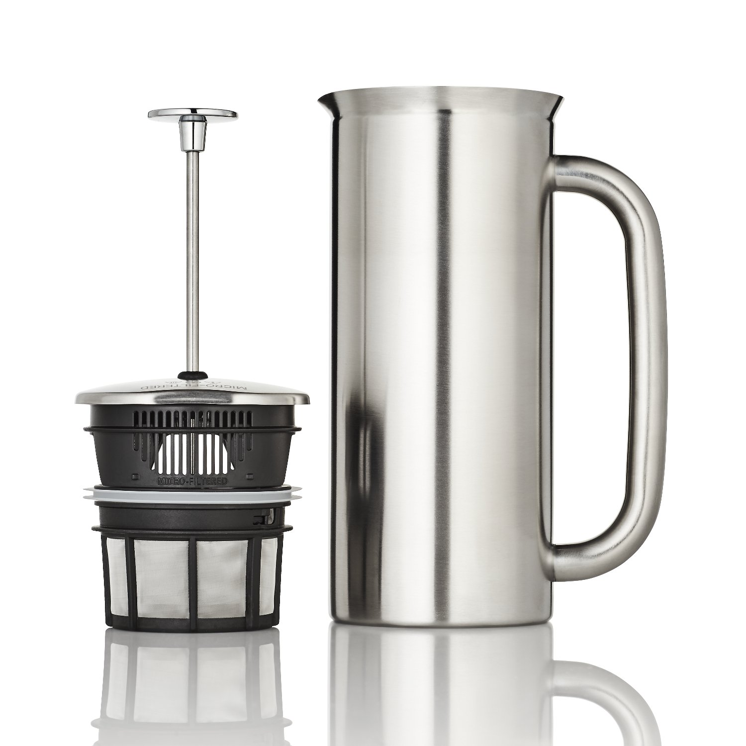 Espro Coffee Press P7-18 oz Double Wall Vacuum Insulated Brushed Stainless Steel Coffee Press 1118C2