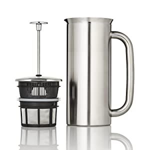 Espro 1132C2 P7 French press, 32 Ounce, Brushed Stainless Steel