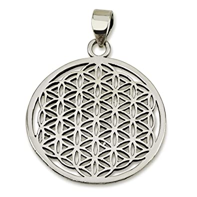 Amazon com: Flower of Life Pendant Sterling Silver 925 Sacred