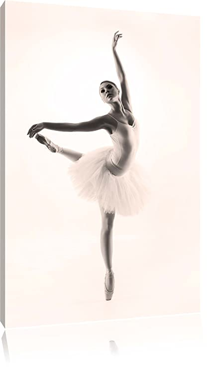Aesthetic Ballerina Black / White, Size: 80x60 on canvas, XXL huge ...