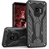 Zizo Static Series Compatible with Samsung Galaxy S9 Case Military Grade Drop Tested with Built in Kickstand Black