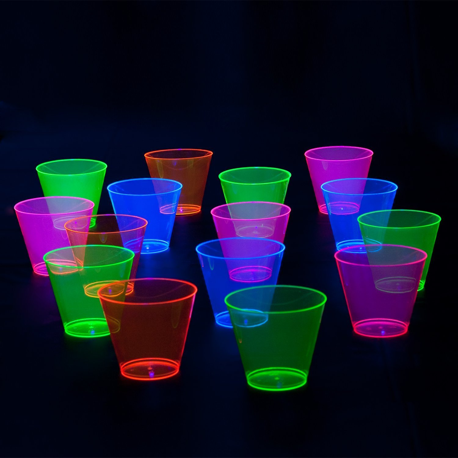 Party Essentials Hard Plastic 9-Ounce Party Cups/Old Fashioned Tumblers, 200-Count, Assorted Neon by Party Essentials (Image #3)