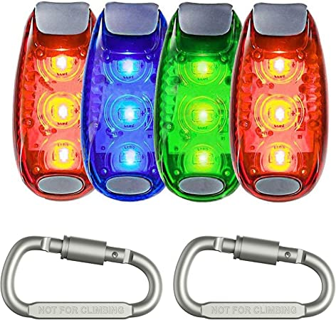 Mini LED Running Walking Keyring Torch Set Night Time Road Safety Lights Lamps