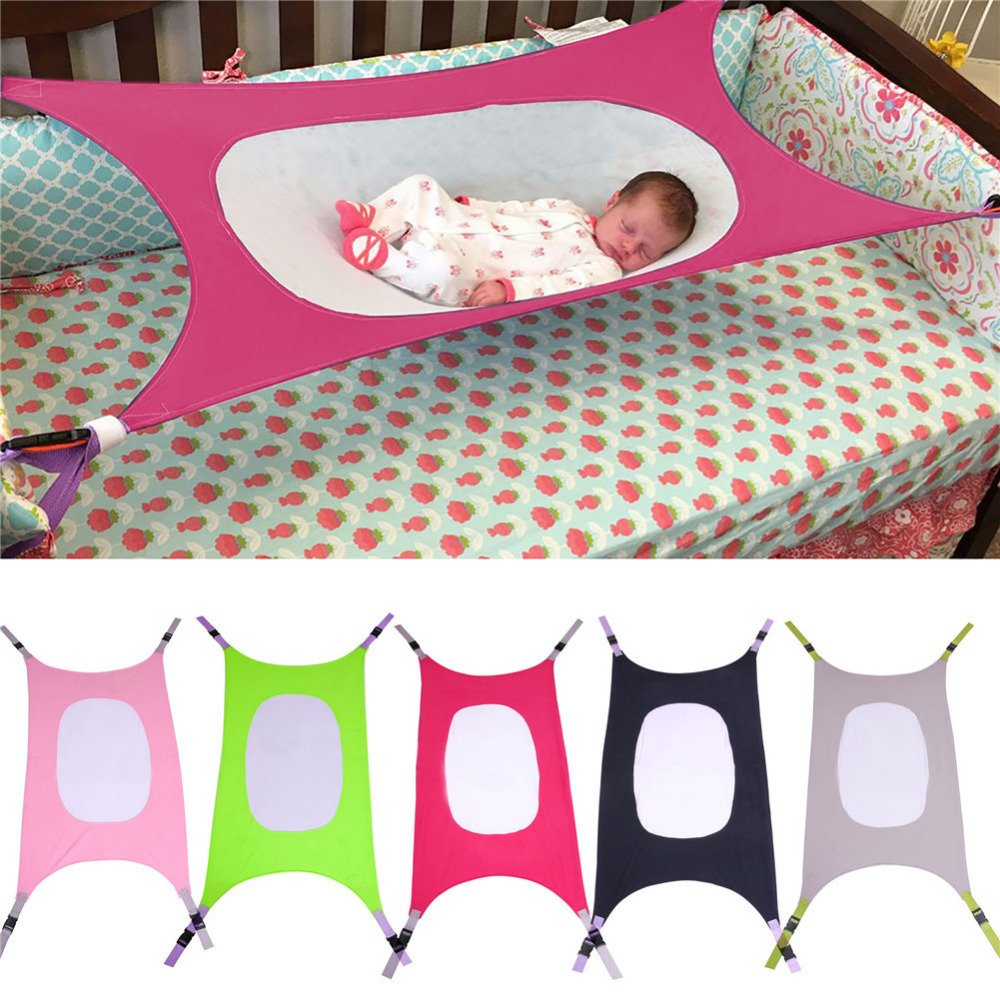 Portable Hammock Folding Baby Crib Infant Portable Beds Folding Cot Bed Travel Playpen Hanging Swing Hammock Crib Baby Hammock Bed Photography-Random Color Ship