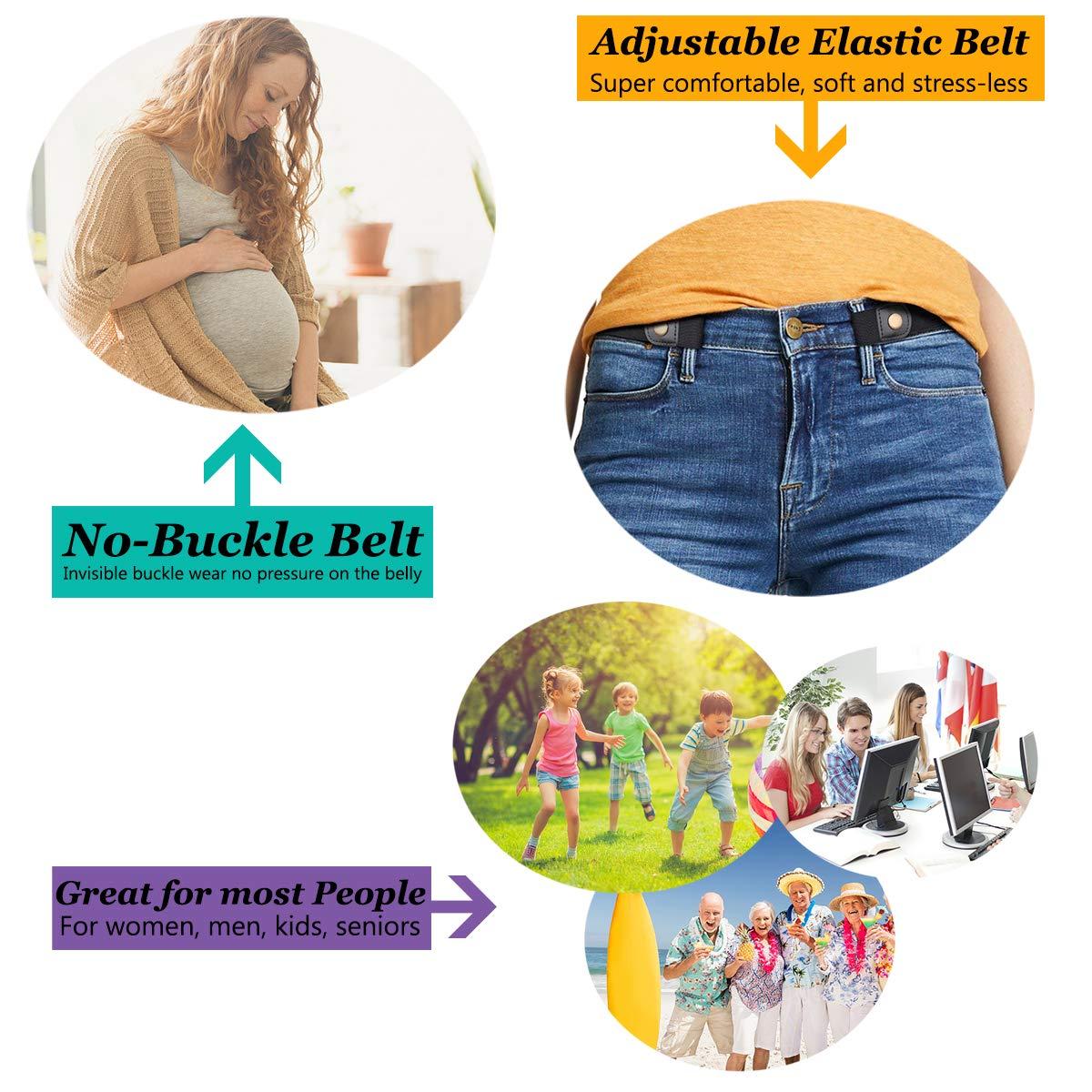 Ceinture sans boucle pour femme1,25 Pantalon Jeans Ceinture élastique sans  boucle confortable Ceintures taille a6272051ed1
