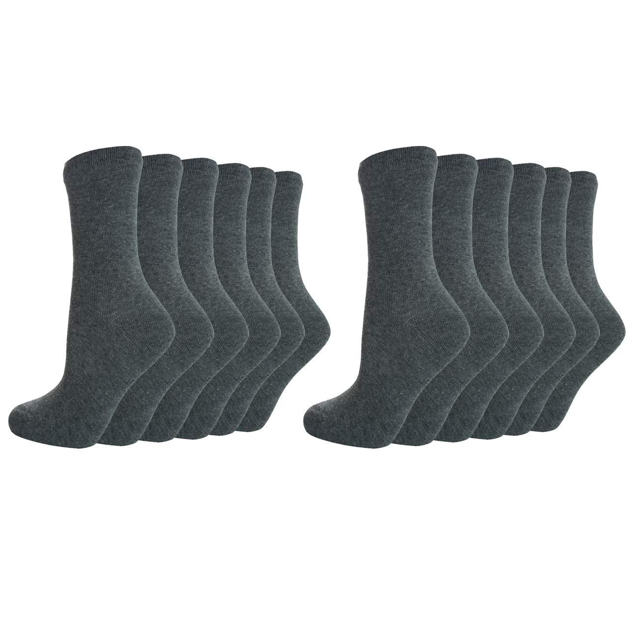Metzuyan Kids Unisex Girls Boys Back To School Socks Plain