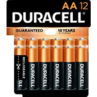 Duracell - CopperTop AA Alkaline Batteries - long lasting, all-purpose Double A battery for household and business - 12…