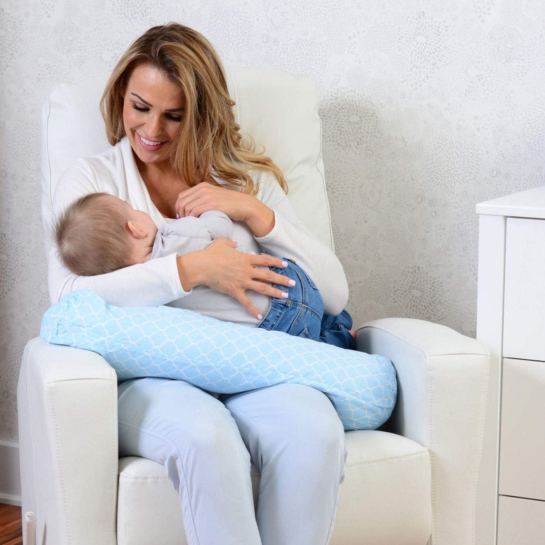 Kidilove Quattrefoil Hypoallergenic Buckwheat Breastfeeding Pillow Pink Made in Canada 8 x 25