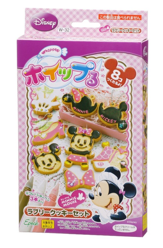 Lovely cookies set Minnie Mouse W-32 and Ru whip (japan import)
