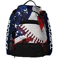 "Boombah Core USA Baseball Bat Bag - 20.5"" x 16"" x 16"" - White/Red/Navy"