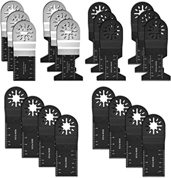 14Pcs Mix Oscillating Saw Blades Tool Set For Milwaukee Fein Makita Multitool UK