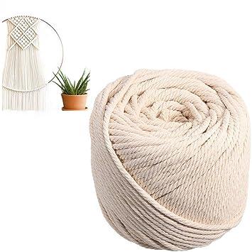 TOPWA - Cuerda de algodón para macramé o macramé de 4 mm 43bb662a2d7