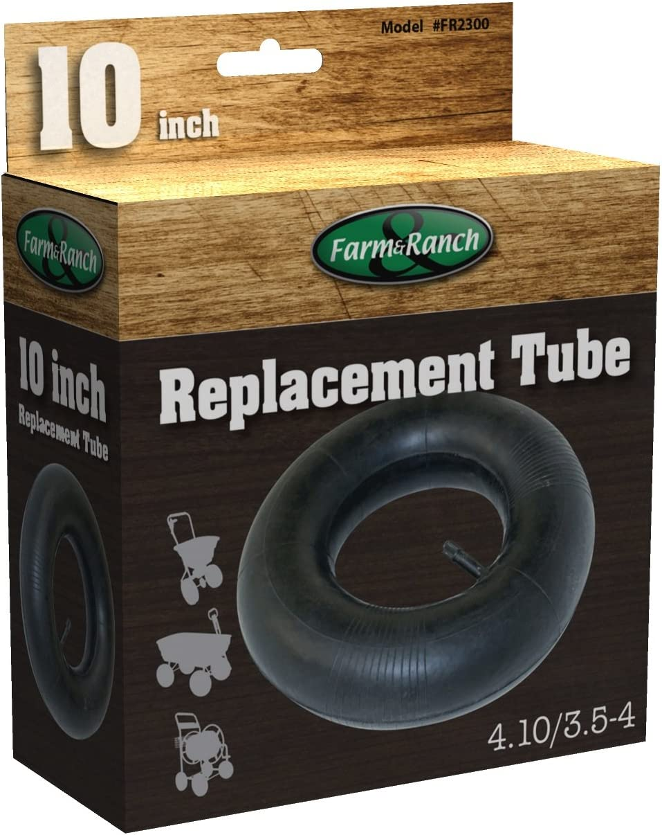 Tricam Farm and Ranch FR2300 Replacement Tire Tube for Wheelbarrows and Utility Carts, 10-Inch