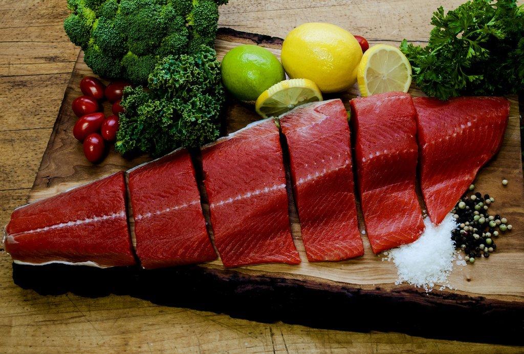 Wild Alaskan Sockeye Salmon (3 LB Fillets) - Overnight Shipping Monday - Thursday