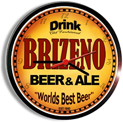 BRIZENO beer and ale cerveza wall clock