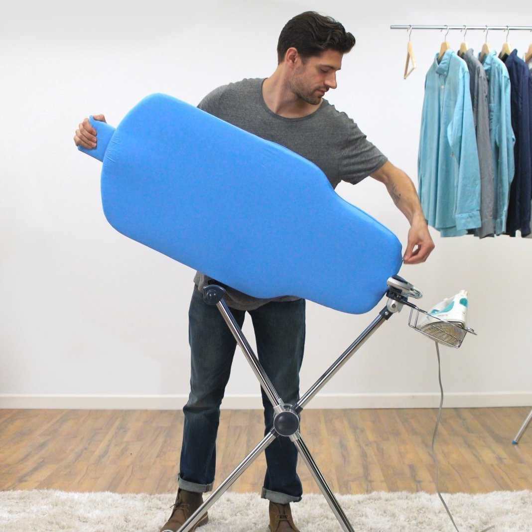 Flippr Ironing Board with 360 Degree Rotating Function and Detachable Iron Rest, Premium Aluminum Iron Board with 8 Adjustable Heights - Flippr by Sharkk by SHARKK