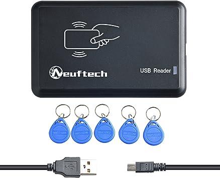 Lecteur de carte RFID 125 kHz sans contact USB EM4100 sans pilote requis