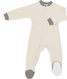 product image for CastleWare Baby: Organic Cotton Fleece Footie Pajamas - Footed Non-Slip Sleeper for Toddlers & Babies - 3 Months-3T