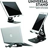 Wayona Adjustable Multi-Angle, Foldable Mobile Stand/Holder Dock Stand for Cell Phones,Tablets and Laptops (Black)