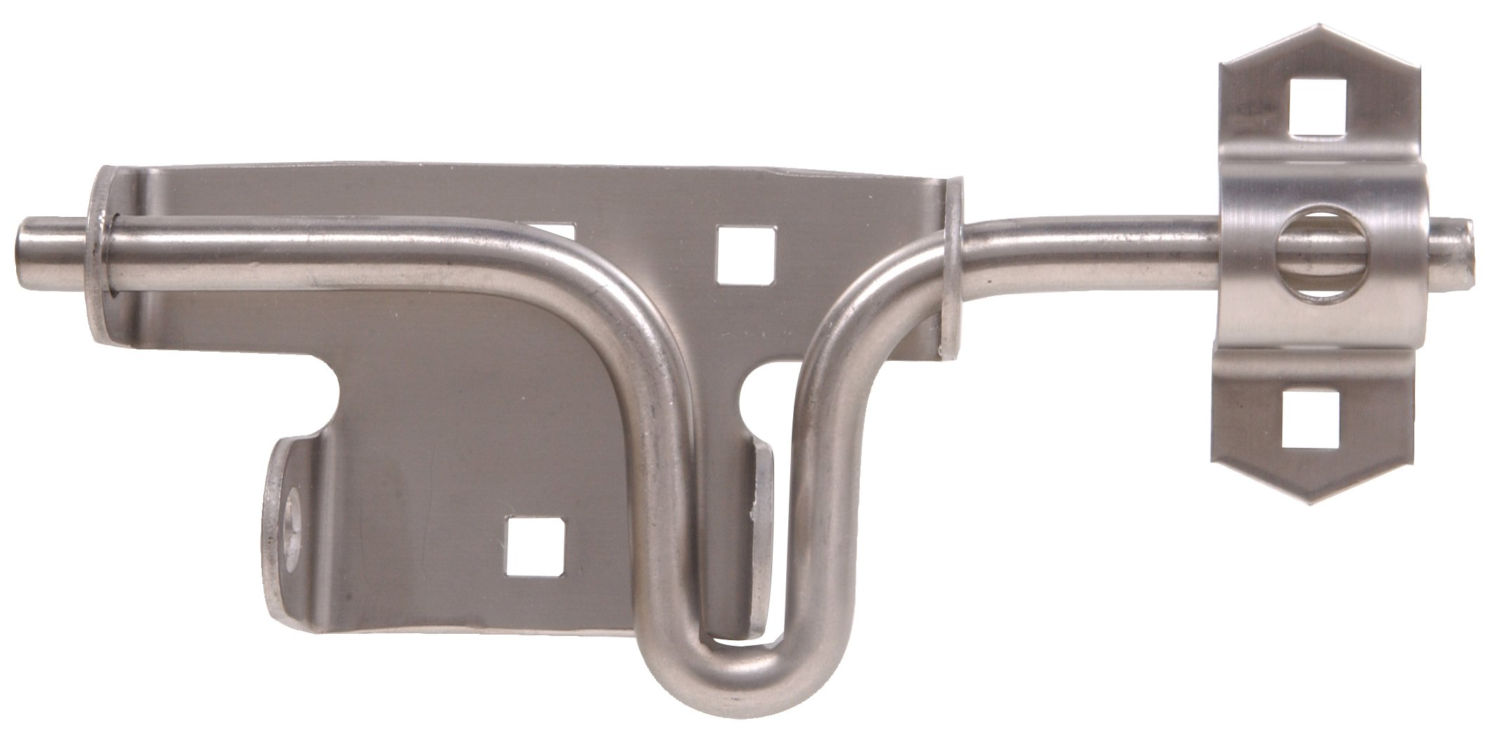 The Hillman Group 851840 Slide Action Gate Latch - Stainless Steel 1-Pack by Hillman