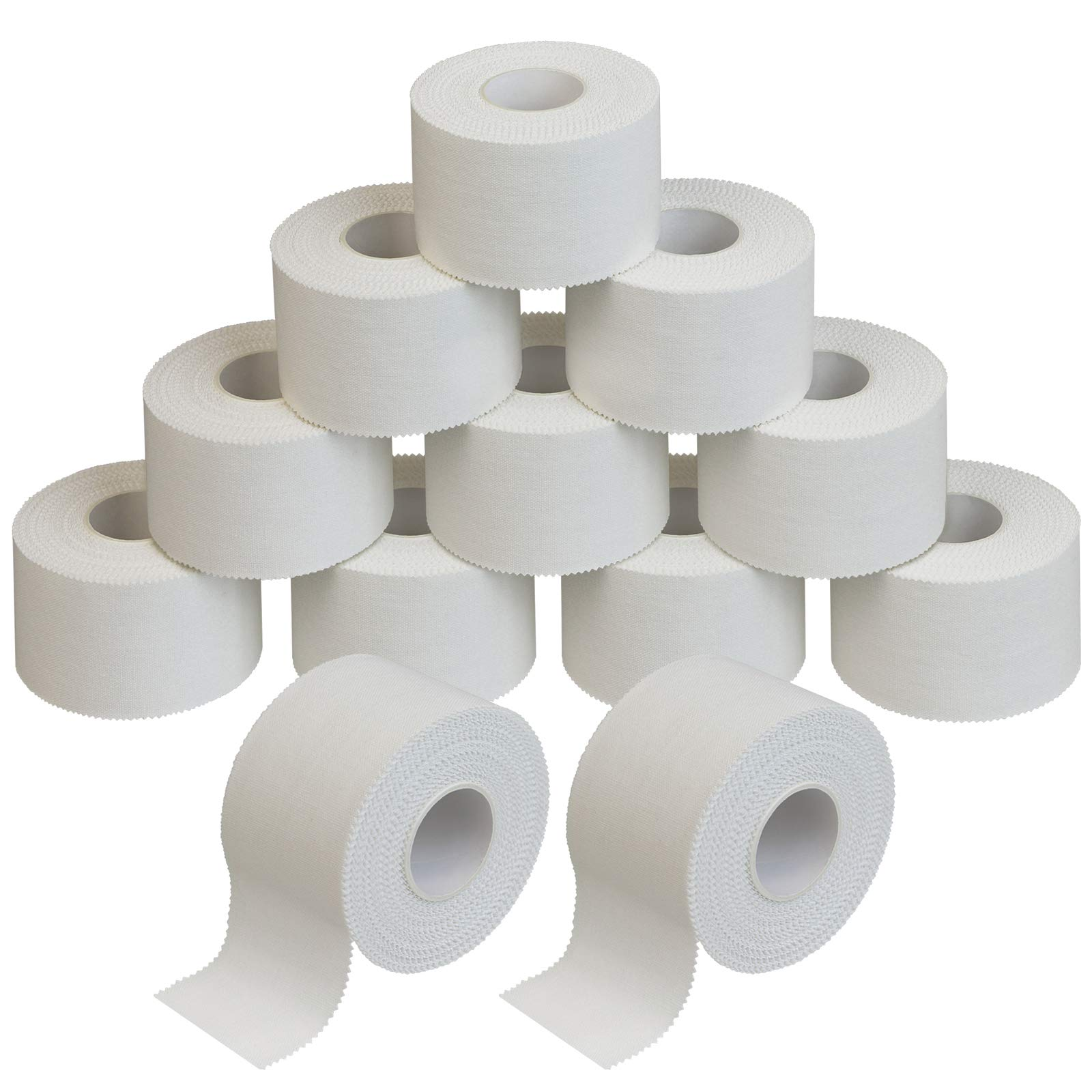 ALPIDEX 12 x Sports Tape 10 m x 3.8 cm white zinc oxide tape finger tape