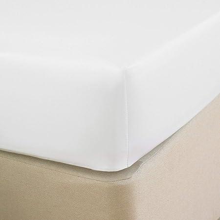 Great Knot 100% algodón Egipcio de 400 Hilos de satén Extra Profundo 40cm sábana Ajustable (Doble 137cm x 191cm + 40 cm de Profundidad, Blanco): Amazon.es: Hogar