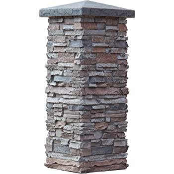 Faux Stone Column Wraps With Easy Install Kit Pole Wrap