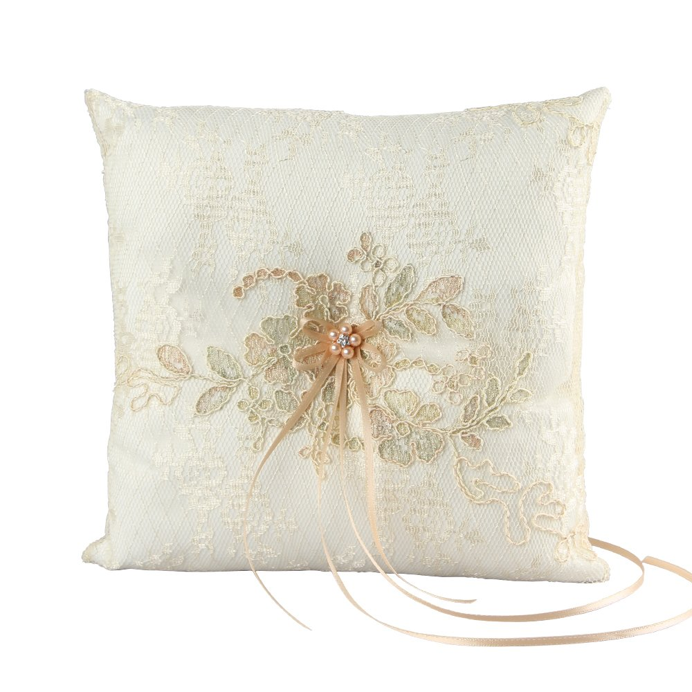 Florence Wedding Collection, Ring Pillow, Ivory by Ivy Lane Design