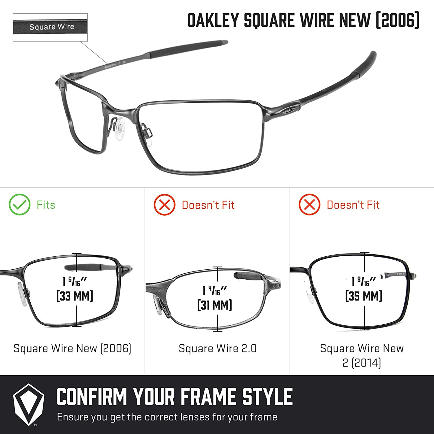 2672e1aa12 Amazon.com  Revant Replacement Lenses for Oakley Square Wire New (2006) Elite  Adapt Grey Photochromic  Sports   Outdoors
