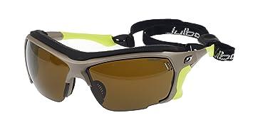 Julbo Trek Gafas de sol, marrón/verde lima, Cameleon anti-niebla lentes