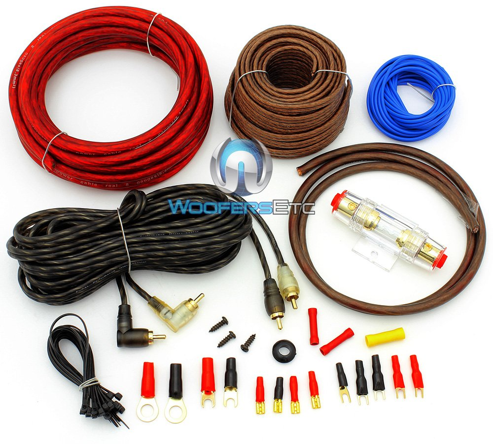 Amazon.com: PK8 - Focal Audio 8 AWG (Gauge) Performance Series Power Amplifier  Wiring Kit: Cell Phones & Accessories