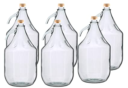 MultiDepot BDG5Z - Botella de Cristal para Carboy (6 Unidades, 5 L)