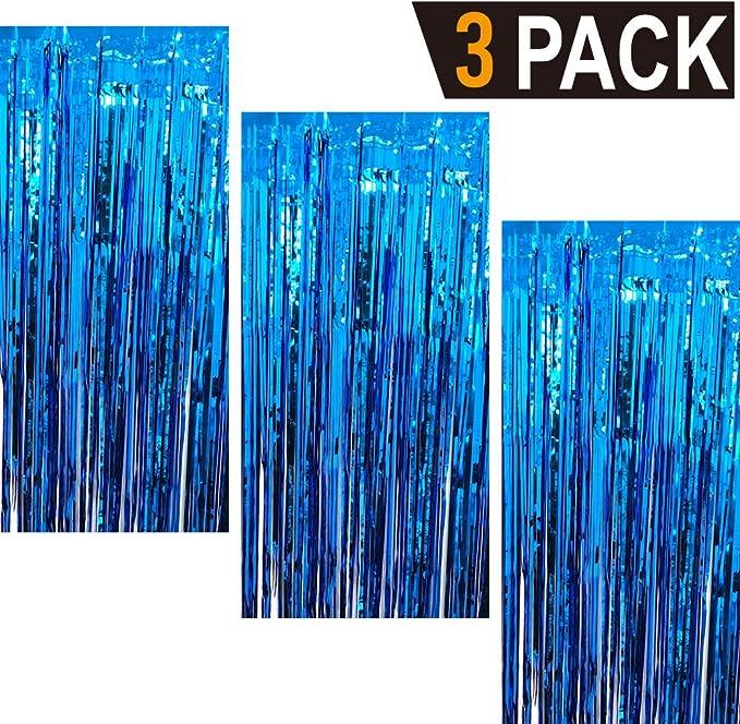 Goer Fransenvorhänge Aus Metallic Lametta Folie 1 M X 3 M Für Partys Fotohintergrund