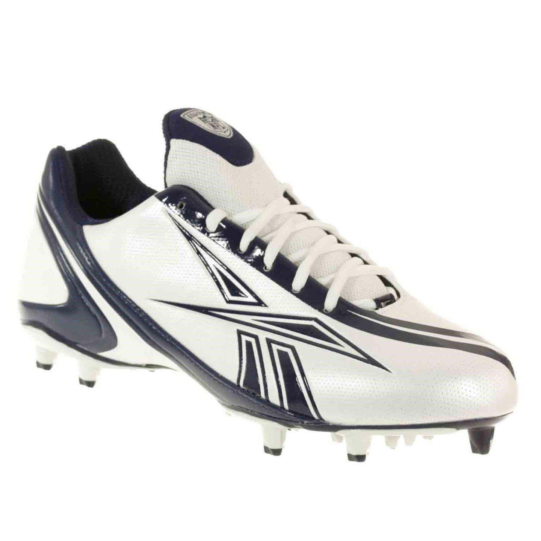 Reebok PRO Burner Speed Low M3 Mens Football Shoes White Black 11.5 M
