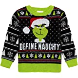 Amazoncom The Grinch Little Boys Toddler Define Naughty Sweater