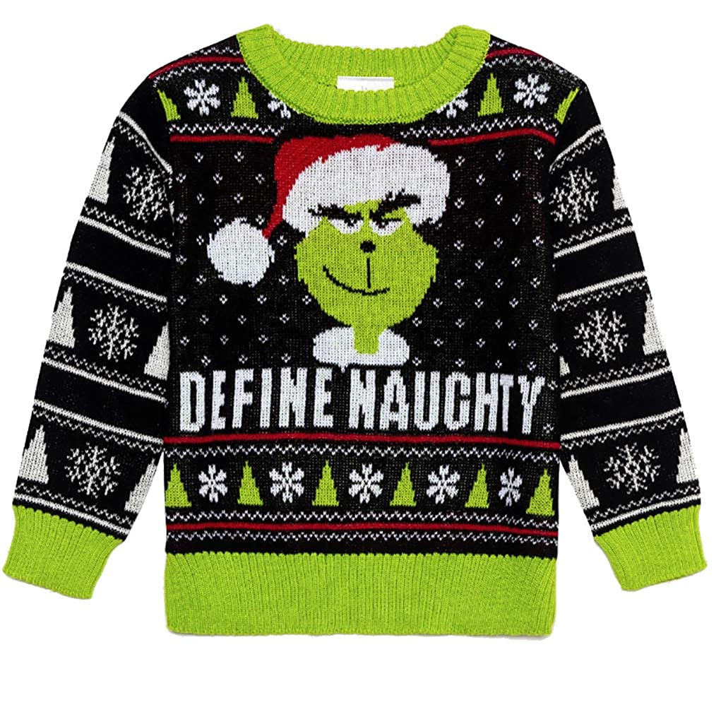 Toddler Dr Seuss The Grinch Define Naughty Christmas Sweater