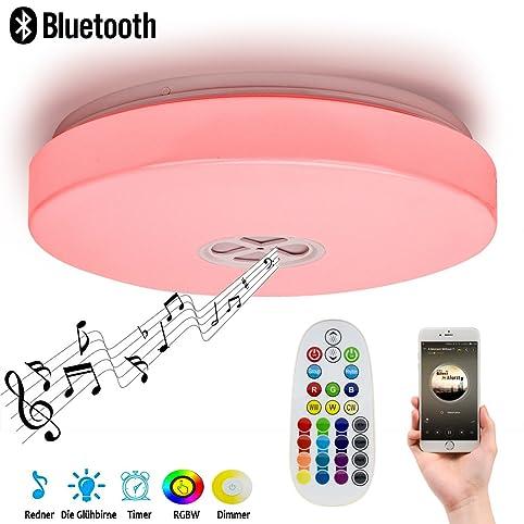 Autai Deckenlampe mit integriertem Bluetooth Lautsprecher und RGB ...