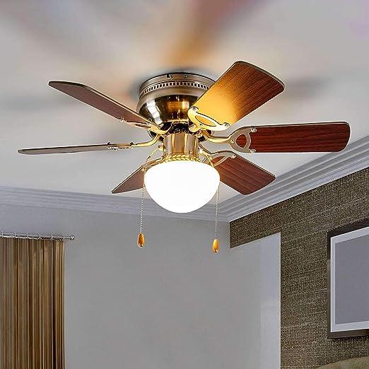 Ventilador de techo con lámpara Flavio (Moderno) en Marrón hecho ...