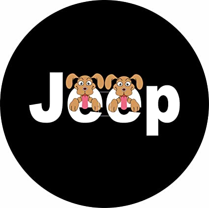 Amazon Com Jeep Wanna Go 2 Dogs Spare Tire Cover With Back Up