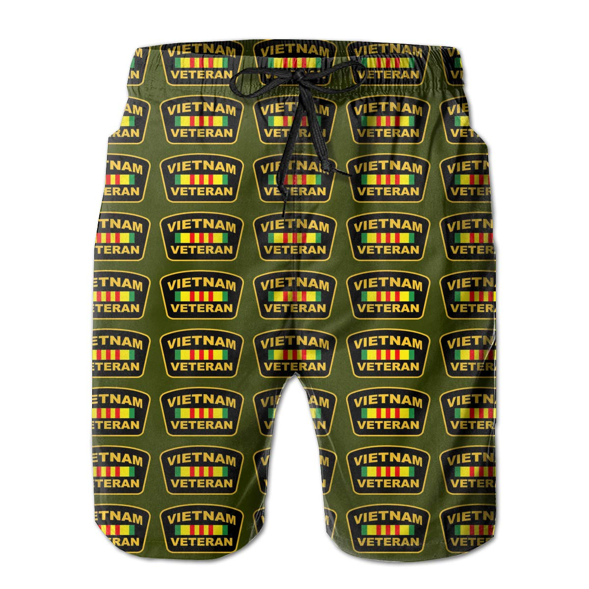 AIYIZHEN Vietnam Veteran Mens Beach Shorts Swim Trunks Swimsuit