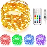 Briignite LED Fairy String Lights 33 Ft Fairy Lights Plug in, 100 LEDs Remote Control Fairy Light with 3 Scene Modes 3…