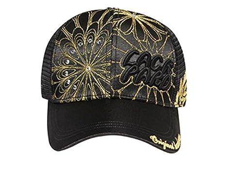 Cheap Metallic Floral Design 3D Lackpard Mesh Back Caps Best Deals
