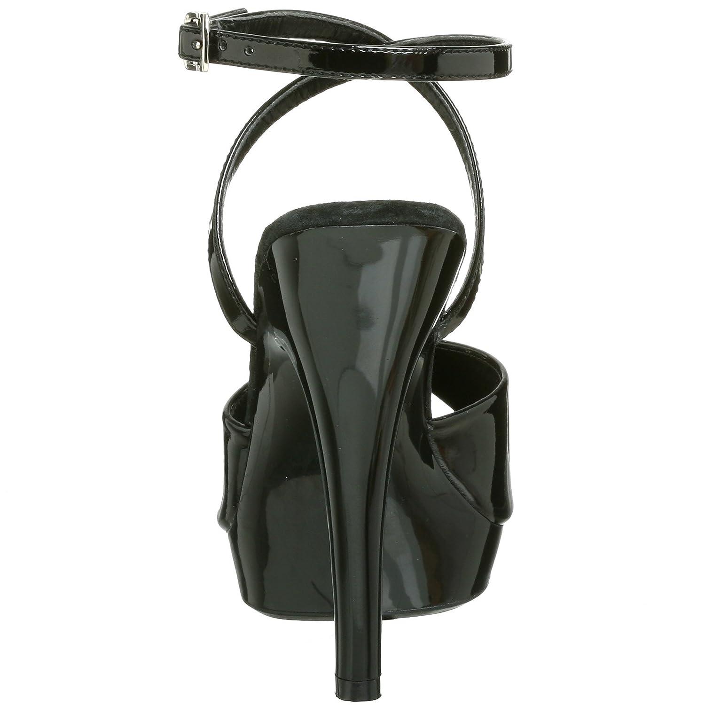 Pleaser Women's Lip-125 Sandal US|Black B00125OSJQ 8 B(M) US|Black Sandal Patent 0ca958