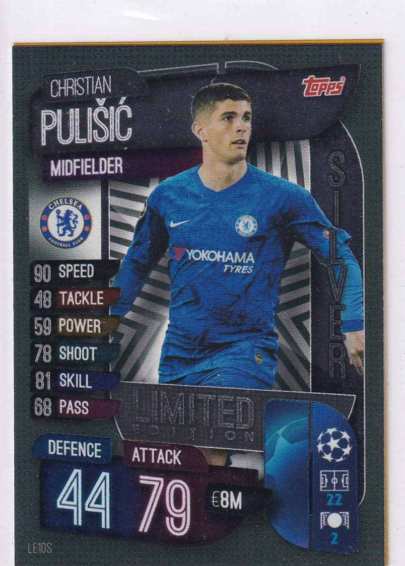 Match Attax 19//20 Limited Edition Silver Pulisic trading card