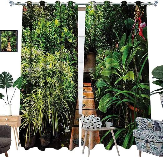 homehot Zen Garden - Cortinas de oscurecimiento para jardín con ...