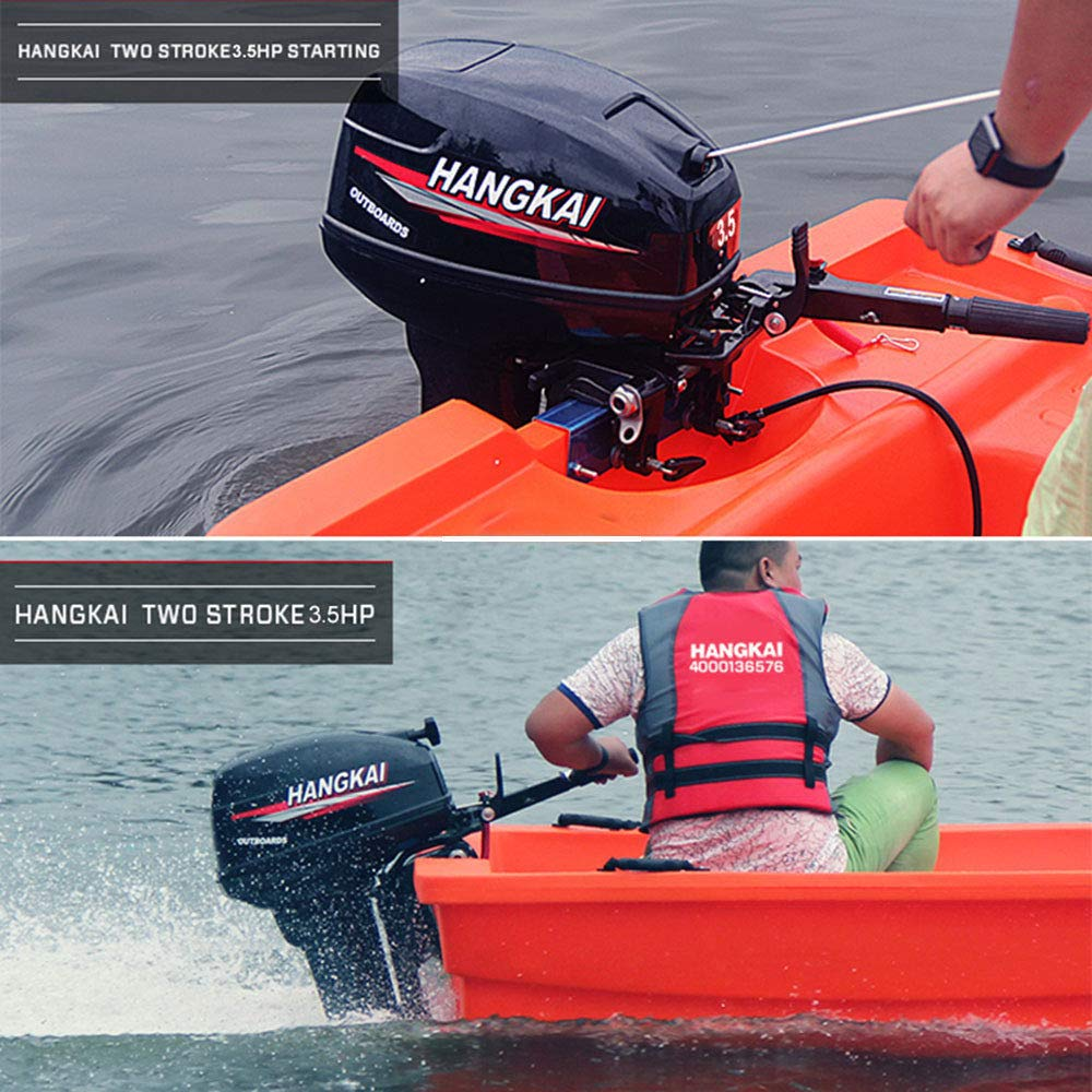 Cozyel 3.5 HP 2 Stroke Heavy Duty Outboard Motor Boat Engine w/Water Air Cooling System by Cozyel